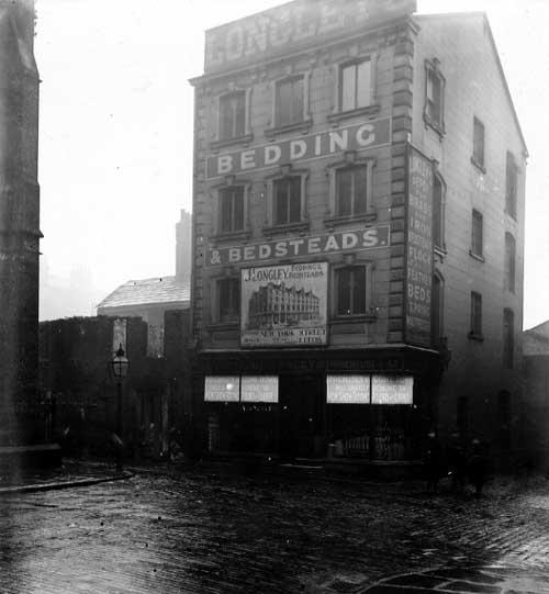 Longleys bedsteads before demolition 1902