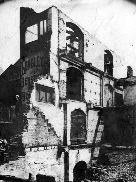 Longleys bedsteads part demolished 1902b