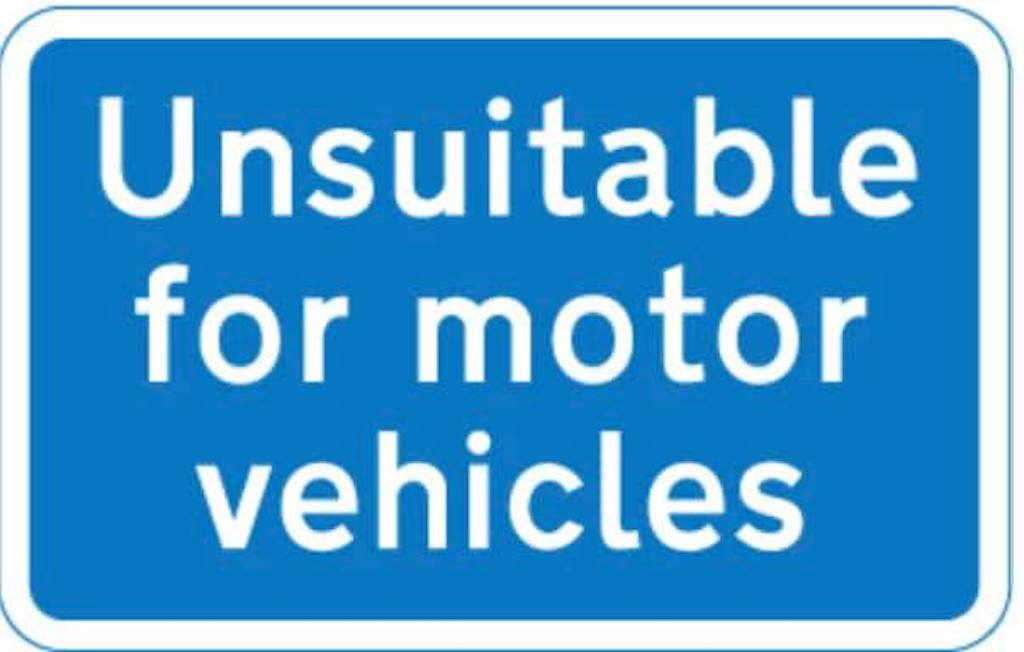 Unsuitable for motor vehicles